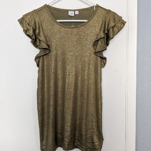 NWT Gap Shimmer in Bronze Top